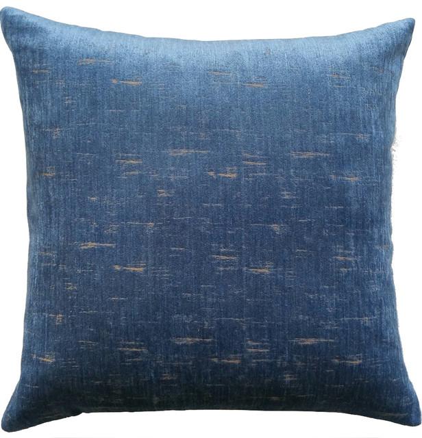 Microfiber Pillow, Dark Blue.