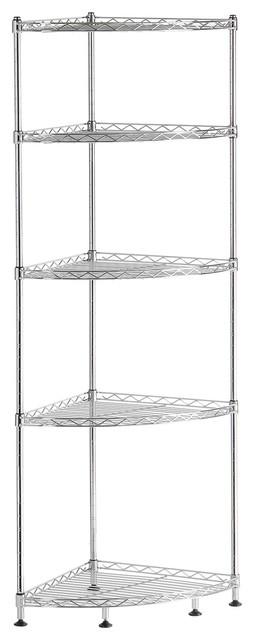 Lifewit 5 Tiers Adjustable Metal Corner Shelf Storage Wire Corner Rack  Shelving