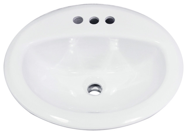 "Nantucket Sinks 20.25"" Drop-In Ceramic Vanity Sink."