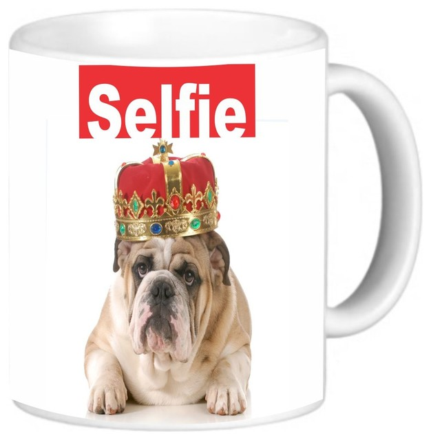 Selfie His Highness English Bulldog Coffee Mug