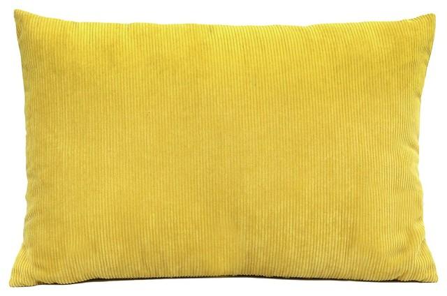 Decorative throw pillows 20 x 12 magnolia deco geometric sunshine yellow and white