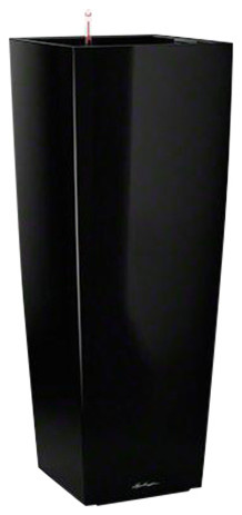 Cubico Alto Self Watering Planter, 105x40x40 CM, Black
