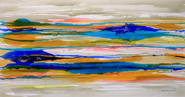 """""""Clark Colour"""" Canvas Painting, 80x150 cm"""