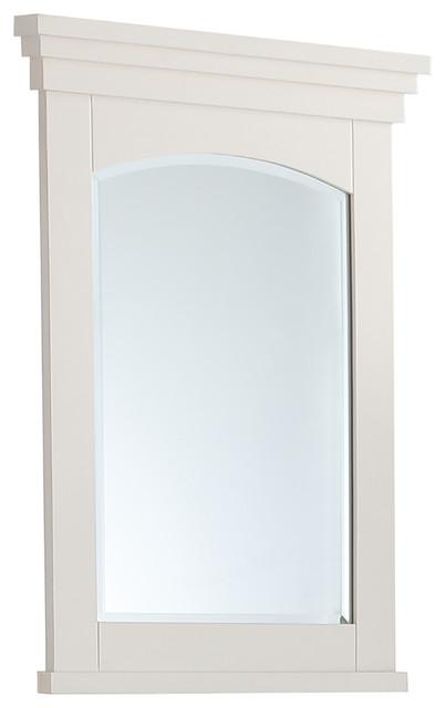 "Elise 24""x34"" Soft White Bath Vanity Decor Mirror."