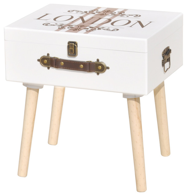 vidaXL Side Cabinet, White, 40x30x41.5 cm