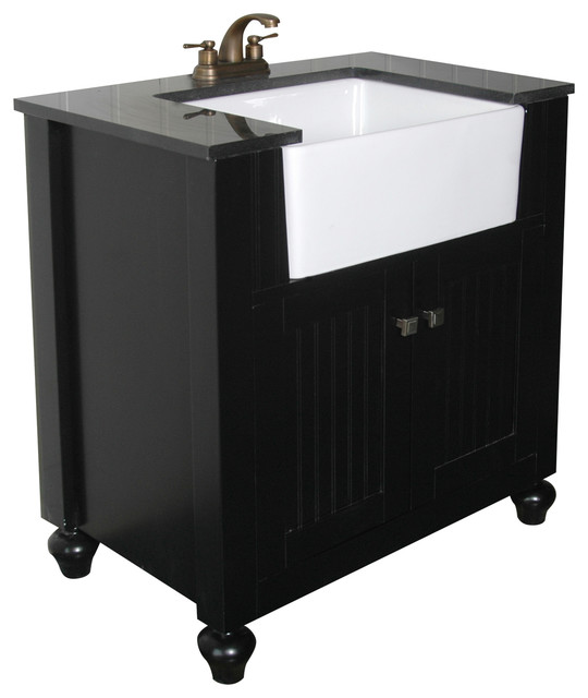 Legion Mara Vanity With Farm Sink Espresso