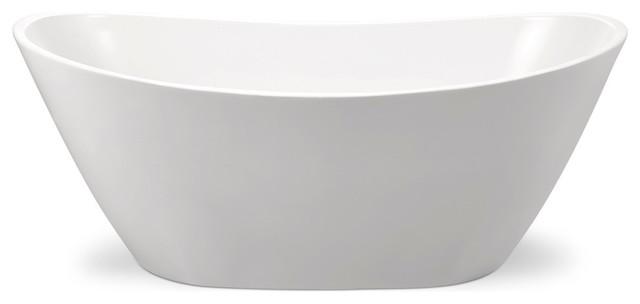 Cross Series 5.58&x27; Freestanding Bathtub, White.