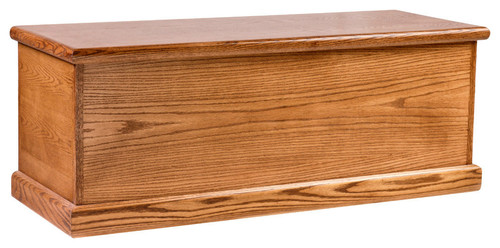 Bullnose Oak Cedar Chest Unfinished Alder
