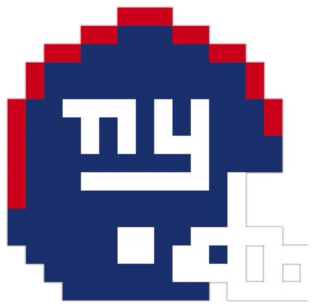 New York Giants Football Helmet Pixel Art Vinyl 24x24