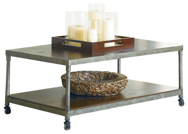 Hammary Structure Rectangular Cocktail Table With Casters