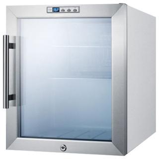 Compact Commercial Glass Door Refrigerator Scr215l