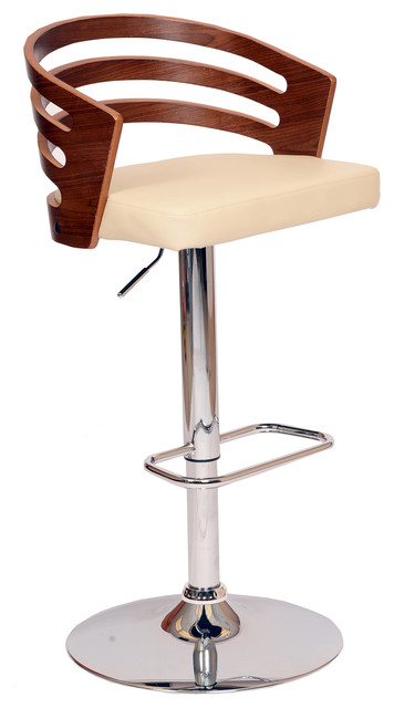 Deshield Swivel Bar Stool, Cream.