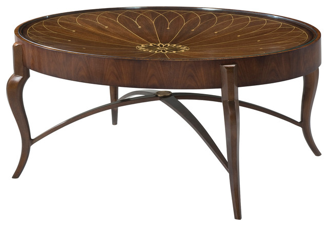 Theodore Alexander Iron And Dish Cocktail Table Traditional Coffee Tables By Benjamin Rugs