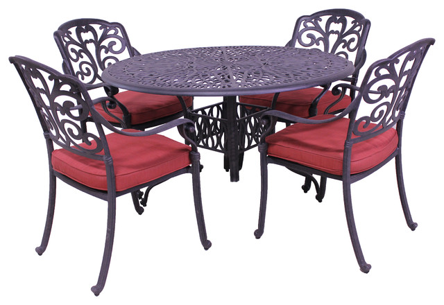 928143462e Vienna 5-Piece Dining Set - Traditional - Outdoor Dining Sets - by Patio  Retreat
