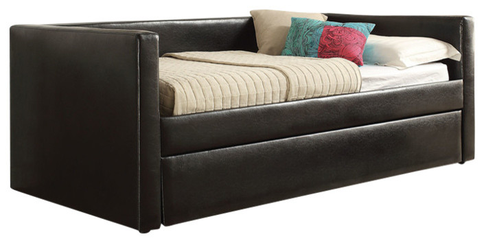 Aelbourne Daybed And Trundle Black Transitional