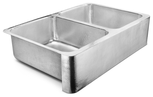"Anning Farmhouse Apron-Front Stainless 32"" Kitchen Sink, Polished Stainless Stee"