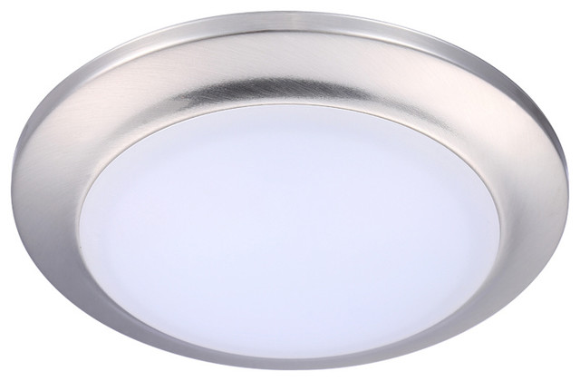 Cloudybay 7 5 Led Mini Flush Mount Ceiling Light 3000k Warm Brush Nickel