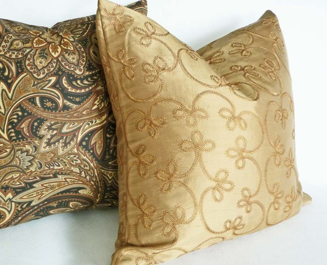 antiqued nebula pillows gold product contemporary decorative home pillow silver design