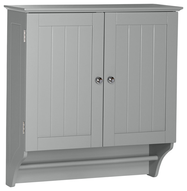 Riverridge Home Ashland Collection, 2-Door Wall Cabinet, Gray.