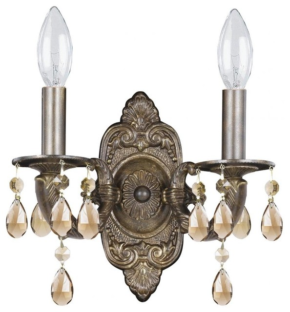 Sutton Two Light Venetian Bronze Wall Light - Transitional - Wall Sconces - by We Got Lites