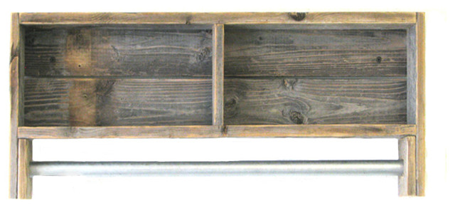 Reclaimed Towel Rack Shelf