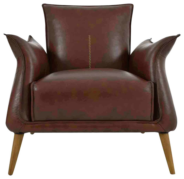 Moe S Home Collection Verona Club Chair Light Brown