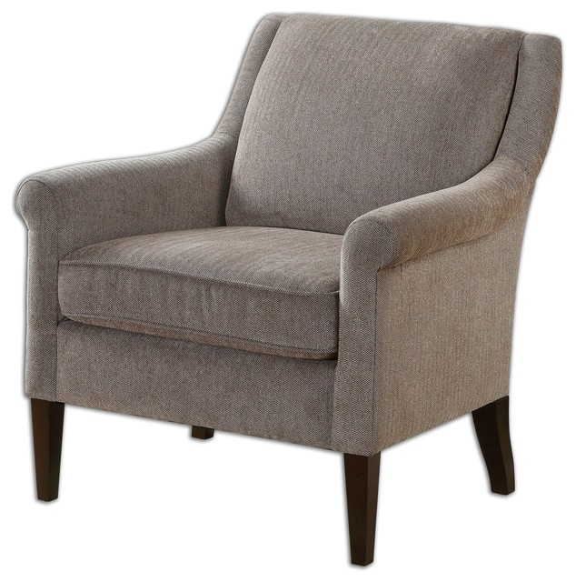 Nelle Herringbone Armchair Transitional Armchairs And