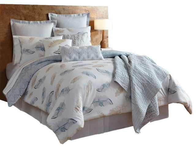 Shell Rummel Feather Multi Comforter Set, Full/Queen