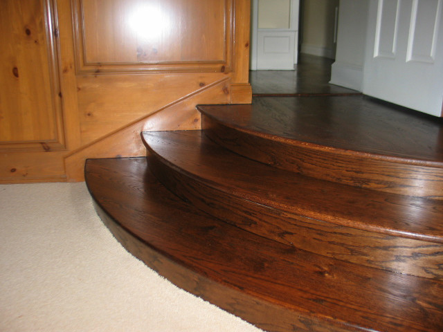 Red Oak Wood Floors   Curved Stair Tread And Riser
