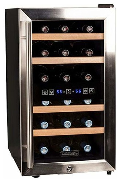 Koldfront twr187e 14 wide 18 bottle wine cooler for Beer and wine cooler table