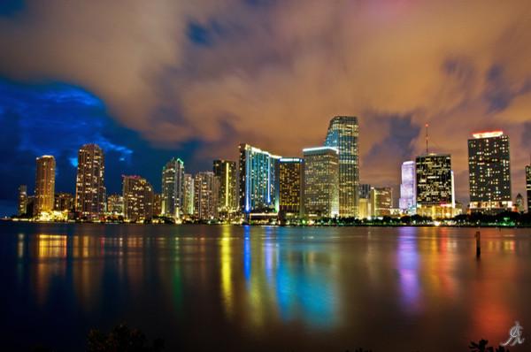 """Shining Miami"" Art Print, Aluminum Dibond, Small"