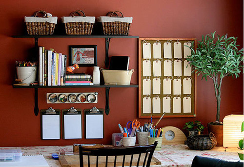Getting Organized: Tackling the Craft Space | Apartment Therapy Chicago contemporary home office