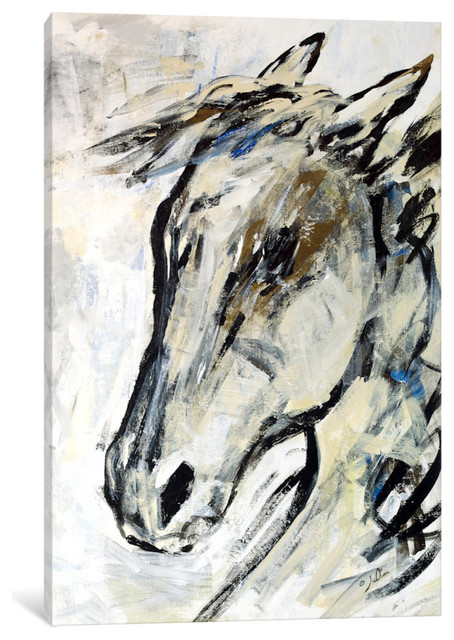 """""""Picasso's Horse II"""" Print by Julian Spencer, 60""""x40""""x1.5"""""""