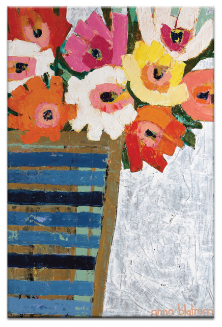 Country Flowers, Canvas Print.