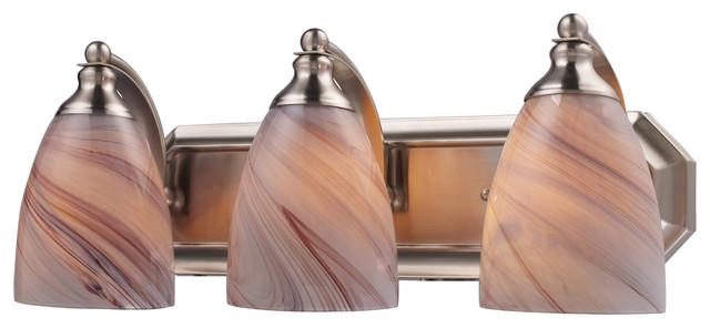 Satin Nickel Ceiling Lights Bathroom Vanity Chandelier: Vanity 3-Light Satin Nickel Bathbar