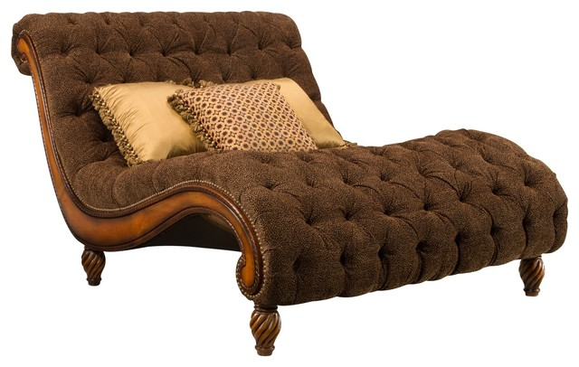 Dinah Chaise-and-a-Half traditional-indoor-chaise-lounge-  sc 1 st  Houzz : chaise and a half lounge - Sectionals, Sofas & Couches