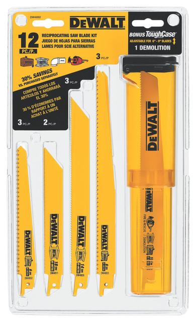 Dewalt Dw4892 12 Piece Reciprocating Saw Blade Set