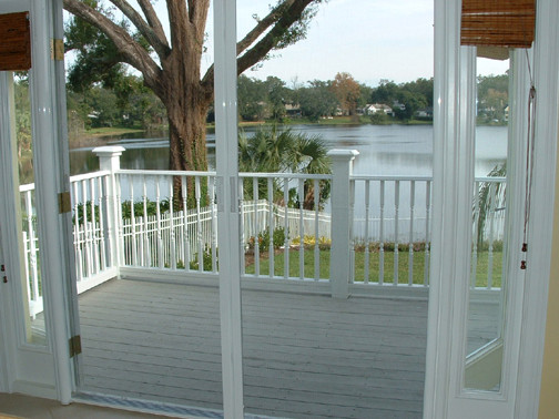Phantom Retractable Screen Doors Traditional Porch