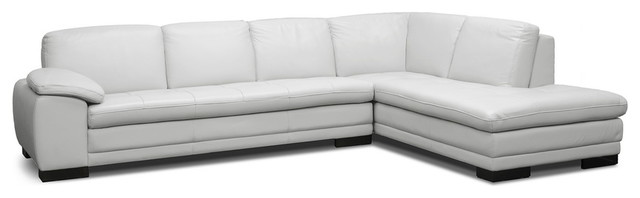 Marvelous Diana Pale Gray Leather Modern Sectional Sofa Beatyapartments Chair Design Images Beatyapartmentscom
