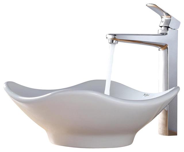 Kraus Sink Ventus Faucet - Bathroom Sinks - by PoshHaus