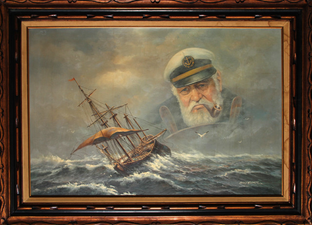 Billy Wilder Old Sea Captain Oil Painting Traditional