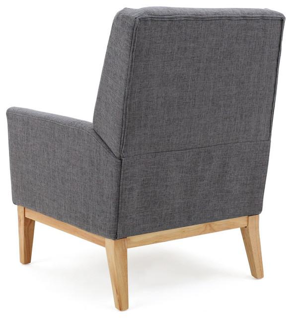 Pleasant Gdf Studio Kronen Mid Century Design Fabric Accent Chair Gray Andrewgaddart Wooden Chair Designs For Living Room Andrewgaddartcom