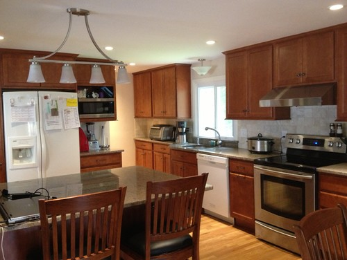Black or stainless appliances with this kitchen? I really need advice