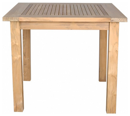 Windsor 35 Square Bistro Table With Small Slats Contemporary