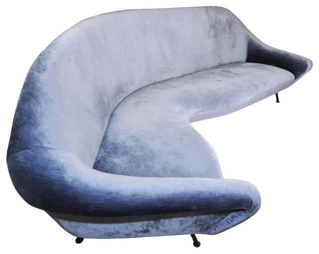 Italian Curved Abstract Shaped Sofa.