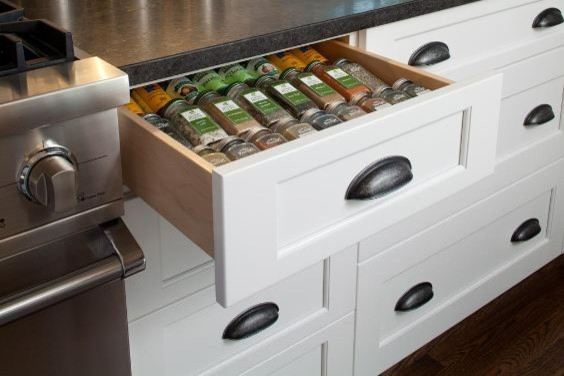 custom storage ideas interior cabinet accessories from greenfield cabinetry traditional kitchen - Custom Kitchen Cabinets Chicago