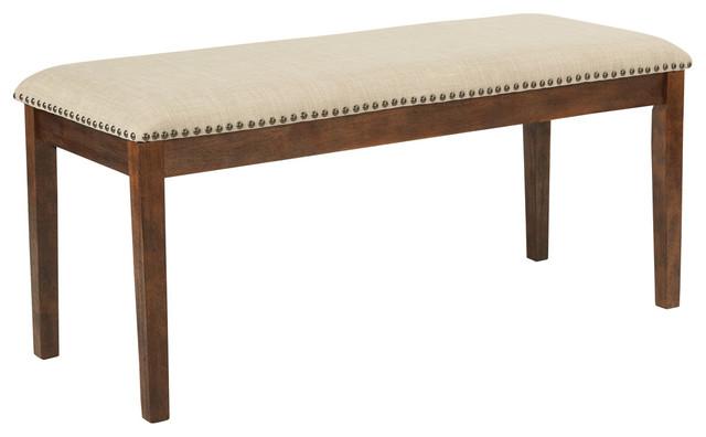 Langston Bench, Linen.