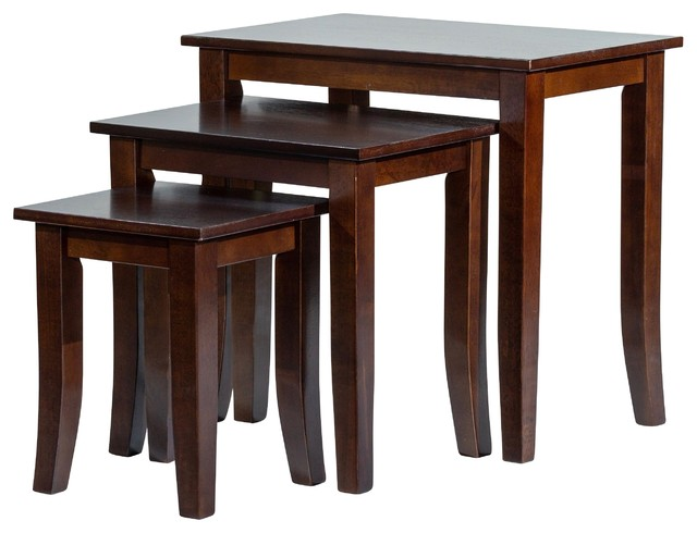 Dty Indoor Living Avon 3 Piece Nesting Table Furniture Collection Transitional Coffee Sets By
