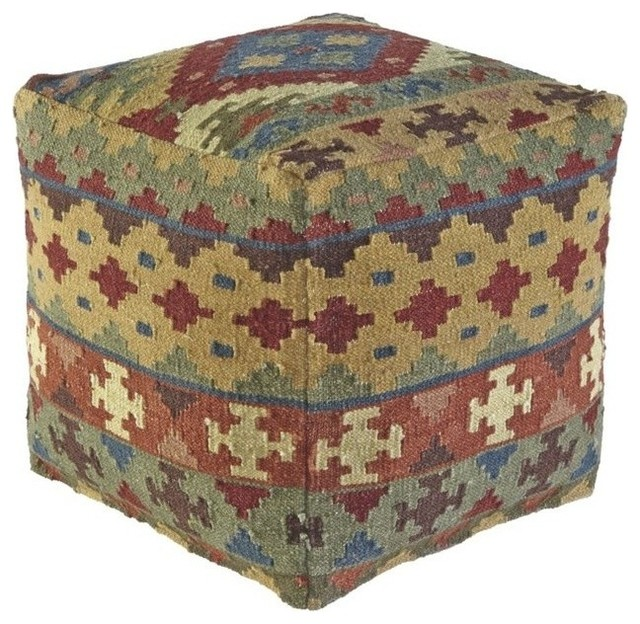 Ashley Adolfo Pouf - Southwestern - Floor Pillows And Poufs - by Homesquare