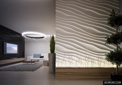 Desert of white sands contemporary family room